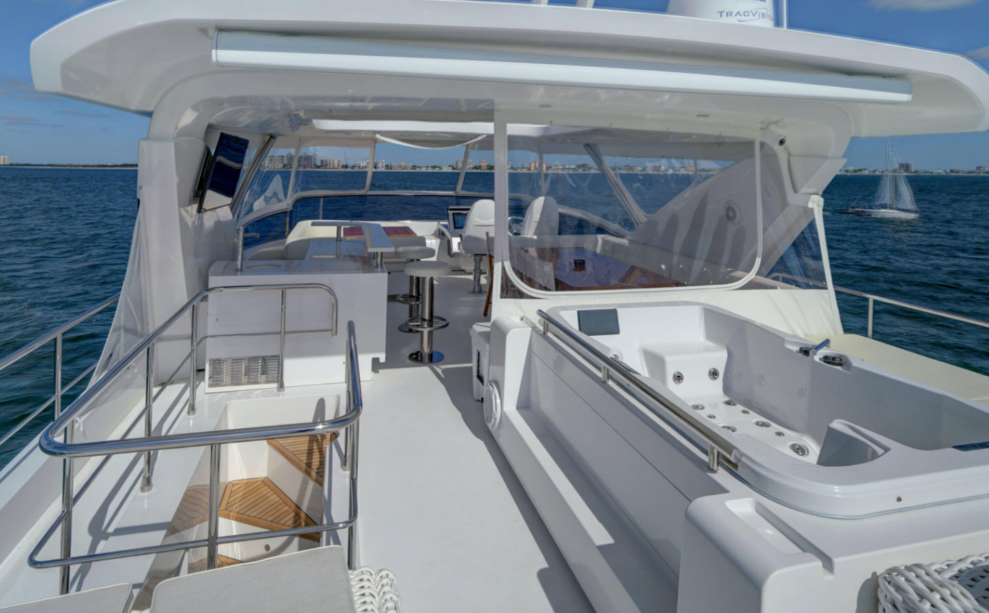 Azimut 80 Flybridge Entertaining Area
