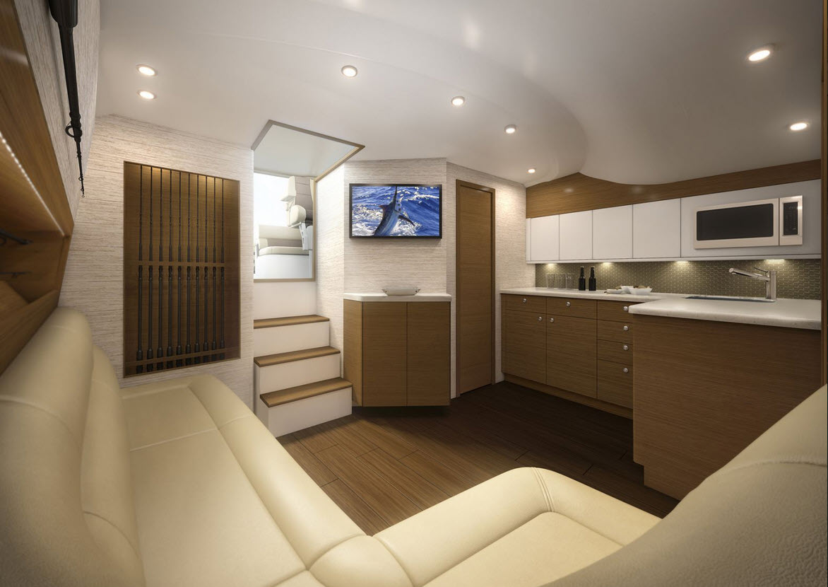 Cabo Yachts 41 Salon And Galley