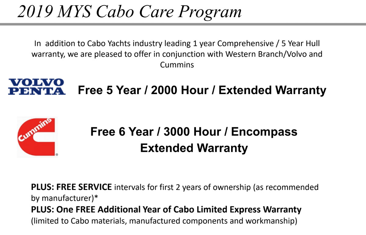 Cabo Yachts Miami Show Offer