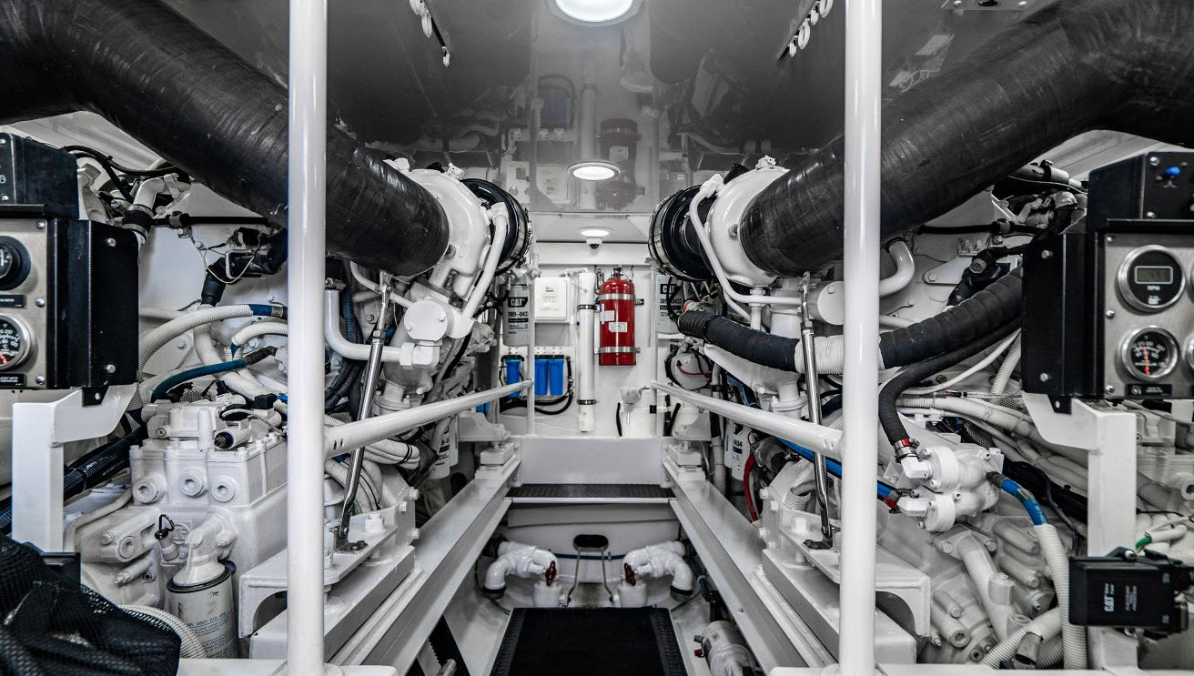 engine room of viking 64C
