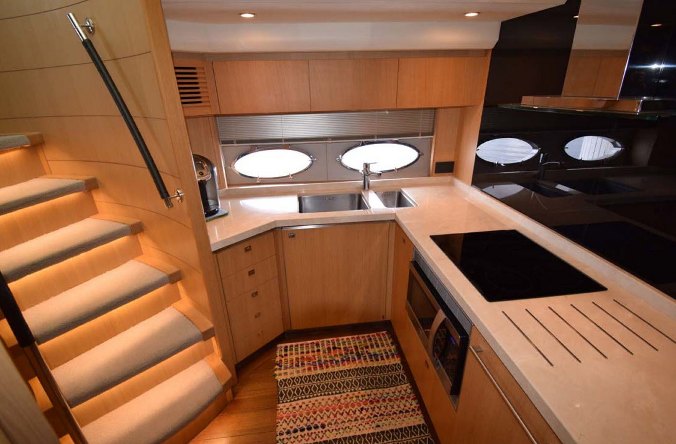 Galley on the princess yachts v72