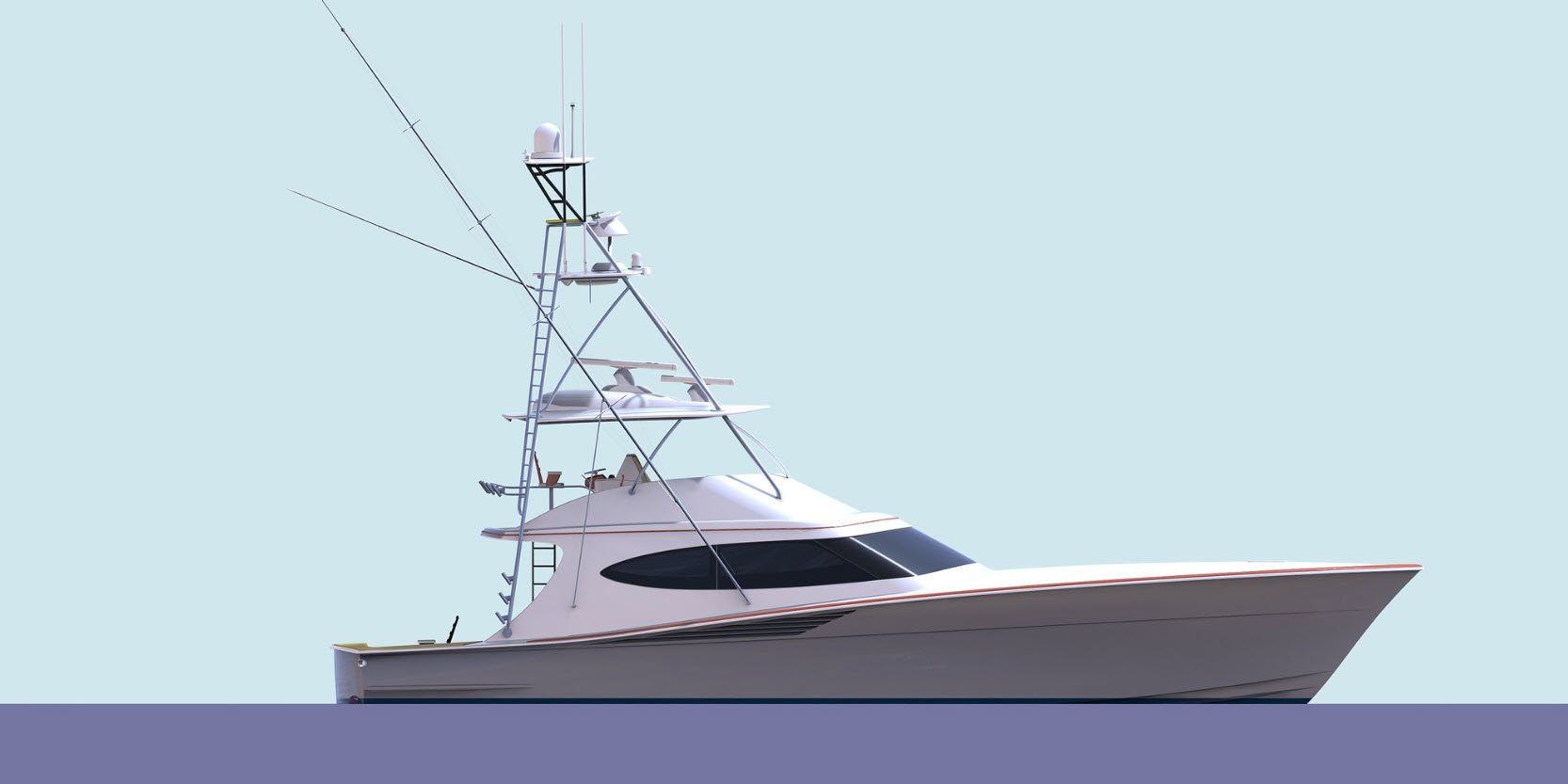 hatteras gt65 carolina profile rendering