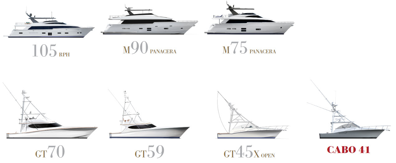 Hatteras And Cabo Yacht Models At The Fort Lauderdale Boat Show