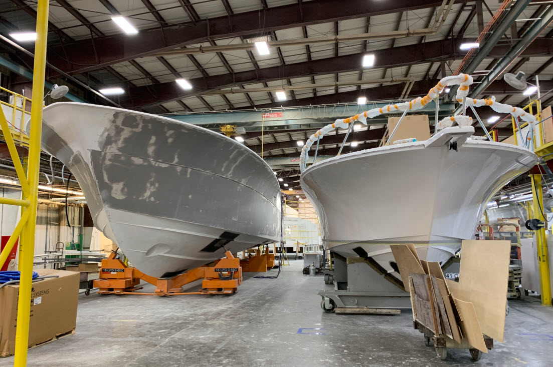 hatteras yachts main assembly area
