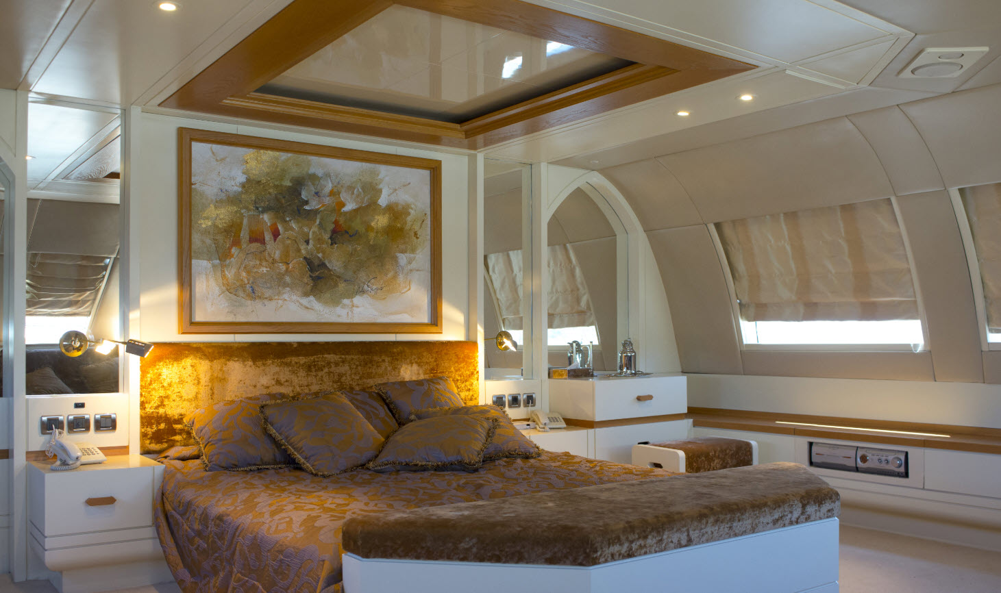 Master Stateroom on 140 super yacht