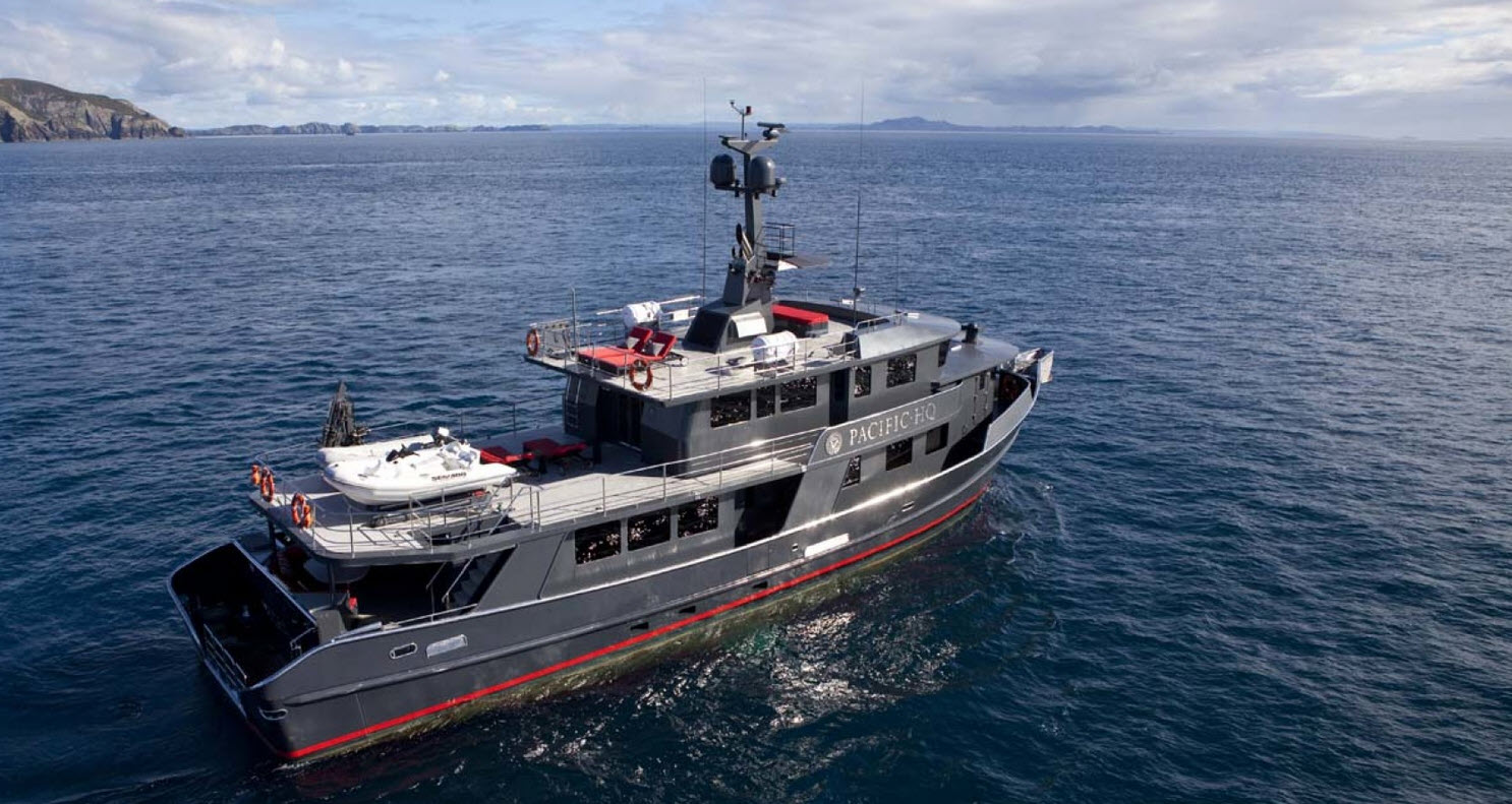 Pacific HQ Custom Jemison Motor Yacht Profile