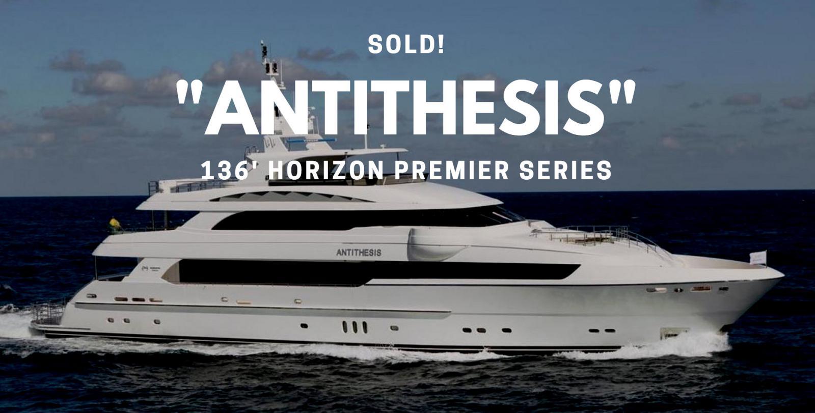 photo of Horizon 136' Motor Yacht Antithesis Sold By United Broker Greg Graham
