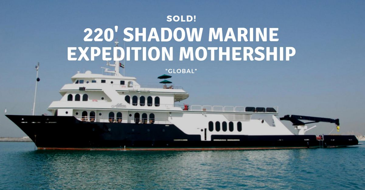 photo of 220-Foot Shadow Marine Expedition Mothership Sold By United Broker Christopher Cooke