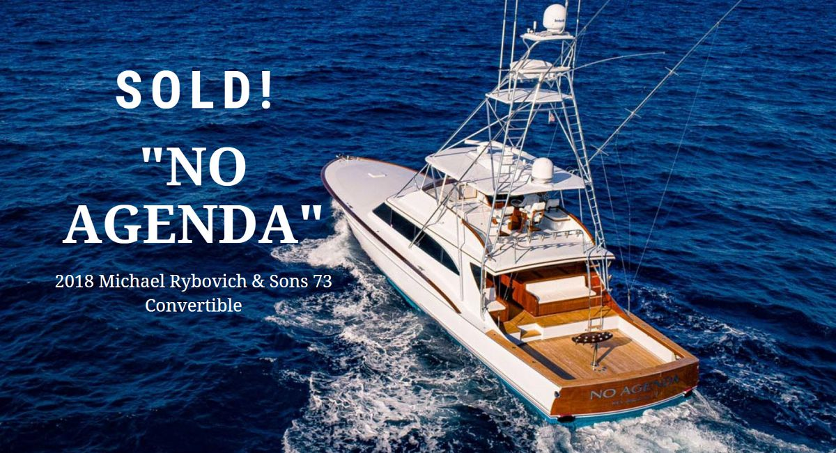 photo of Michael Rybovich 73 Custom Sportfish No Agenda Sold With United
