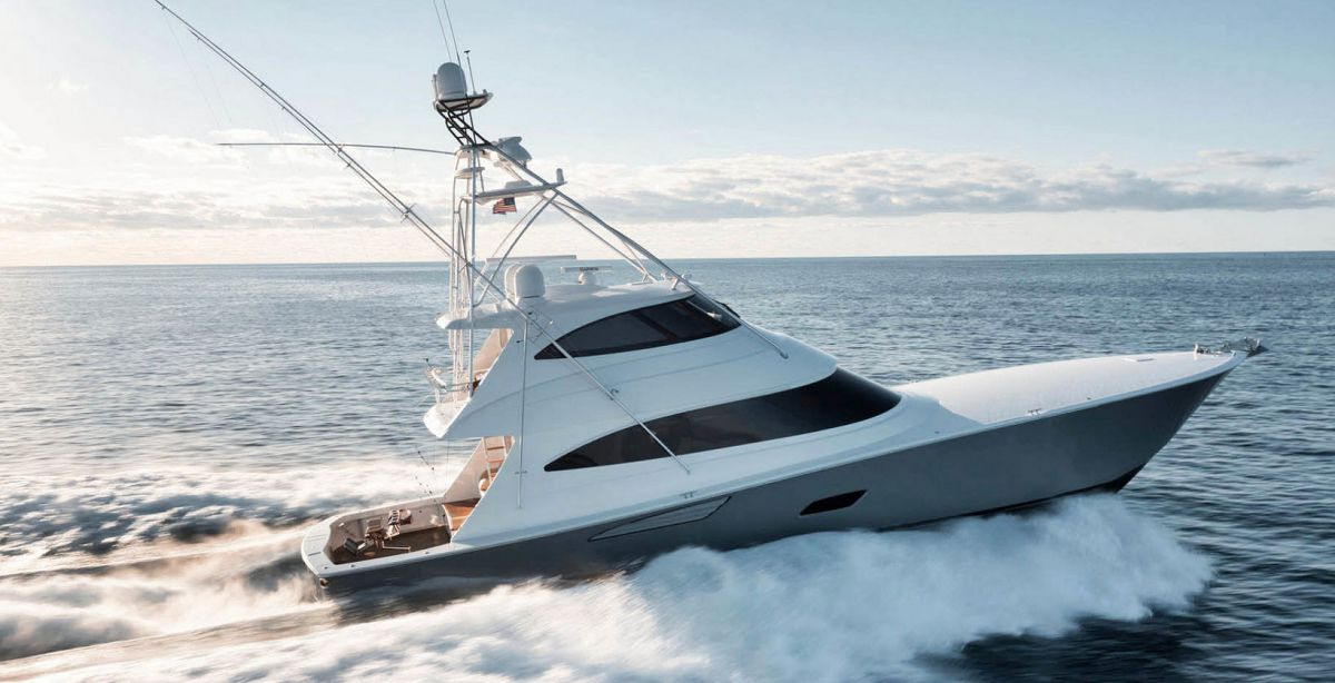 photo of Viking 80 Enclosed Bridge Humdinger Listed With United Yacht Sales