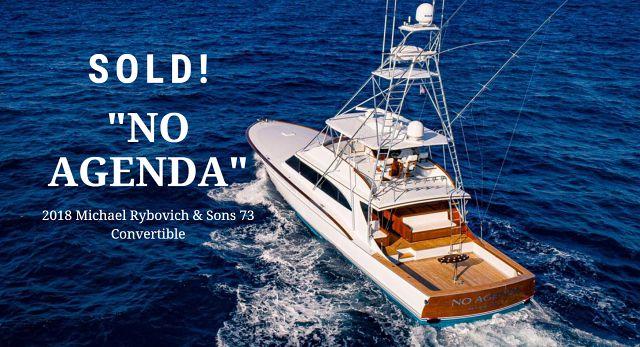 photo of Michael Rybovich 73 Custom Sportfish No Agenda Sold With United