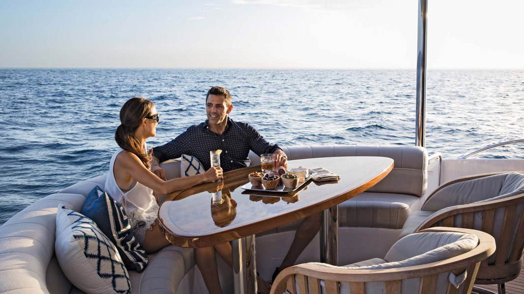 couple enjoying their yacht