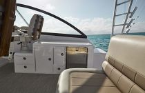 photo of storage and seating on cabo 41