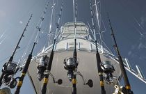 photo of Rod holders on Cabo Yachts 41
