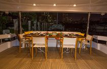 photo of Hatteras 100 Motor Yacht outdoor dining