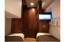 photo of Mares 45 yacht fish power cat guest stateroom