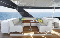 photo of Hatteras M75 Panacera Flybridge Dining