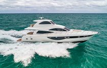photo of Dyna 68 motor yacht for sale running fast