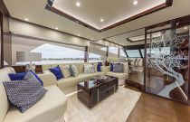 photo of interior salon of the Dyna 68 motor yacht