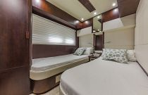 photo of side by side bunks in the guest stateroom
