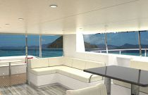photo of Dining area on silent yachts 44