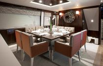 photo of Formal Dining Area On The Hatteras 105