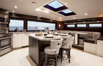 photo of Galley And County Kitchen On Hatteras 105