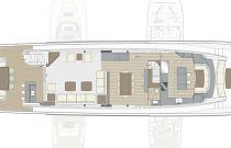 photo of Hatteras M98 Main Deck Layout