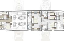 photo of Hatteras M98 Lower Deck Layout