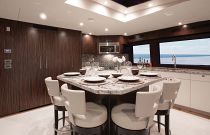 photo of Hatteras 100 Motor Yacht Dining Area
