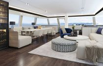 photo of salon and interior dining - sunreef 70