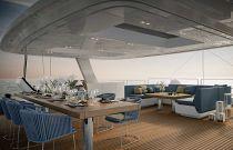 photo of flybridge seating - sunreef 70
