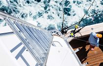 photo of Hatteras GT63 Ladder