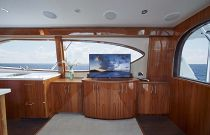 photo of Hatteras GT63 Salon Entertainment Center