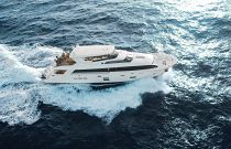 Hatteras 100 Motor Yacht Side View