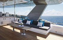 photo of Hatteras M90 Panacera Flybridge Table