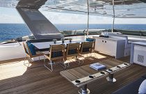 photo of Hatteras M90 Panacera Outdoor dining