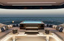 photo of Virtus Yacht 44m Profile Aft Cockpit Dining