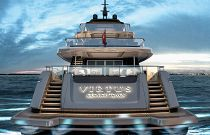 Virtus Yacht 44m Profile Transom with steps