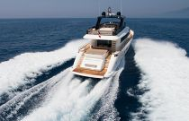 photo of Amer Yachts 94 Transom Shot of Boat Running