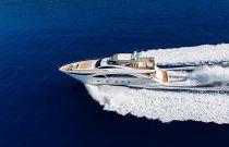 photo of Amer Yachts 100 creating wake