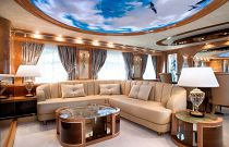 photo of Amer Yachts 100 salon couch