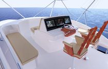 photo of Flybridge on the Hatteras GT65