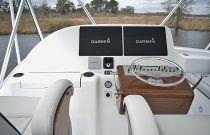 photo of Hatteras GT45X Flybridge Helm