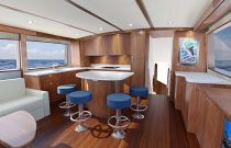 photo of Hatteras GT59 Island Seating 2