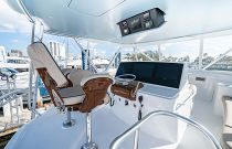 photo of Hatteras GT59 Flybridge helm console