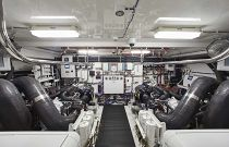 photo of Hatteras M90 Panacera Engine Room 2
